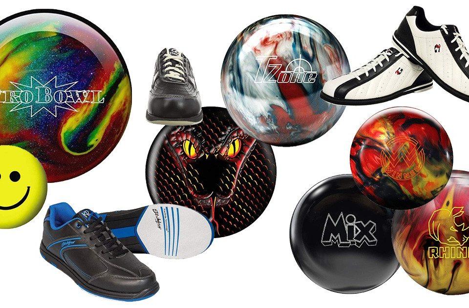 Bowlingkugeln und Bowlingschuhe für Männer