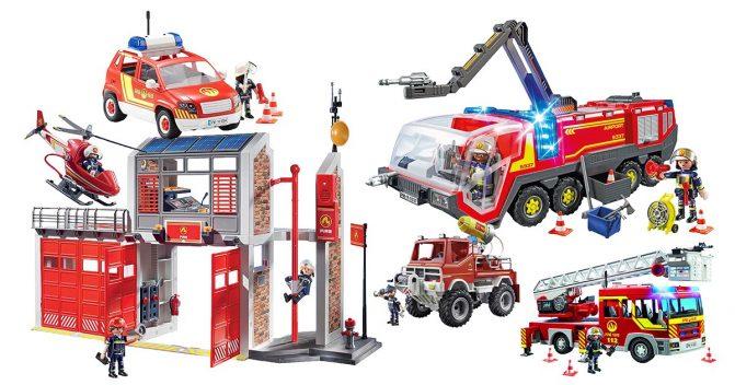 Playmobil-Feuerwehren