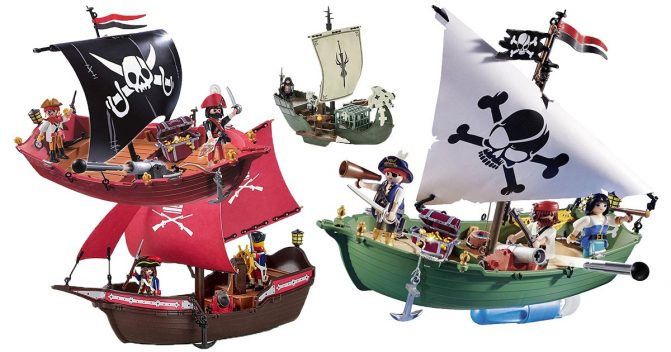 Playmobil-Piratenschiffe