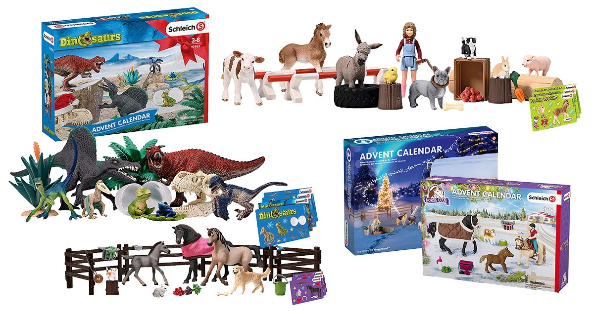 Schleich Adventskalender 2019 Farm World Horse Club Dinosaurier Spielfiguren NEU