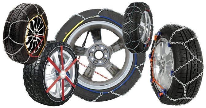 Schneeketten für 5 Reifengrößen