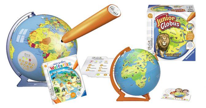 Der Tiptoi-Globus & Weltatlas