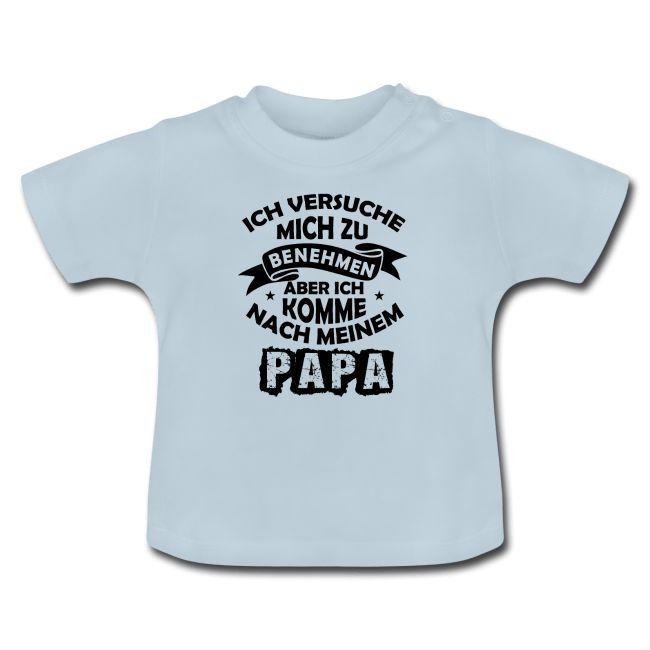 Mode für Papa mit lustigen Sprüchen, Baby T-Shirt