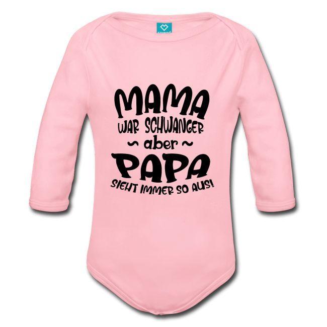 Mode für Papa mit lustigen Sprüchen, Baby Strampler
