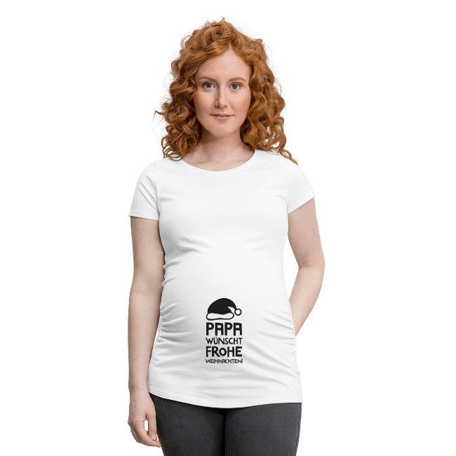 Schwangerschaftsmode für Weihnachten, T-Shirt für Schwangere