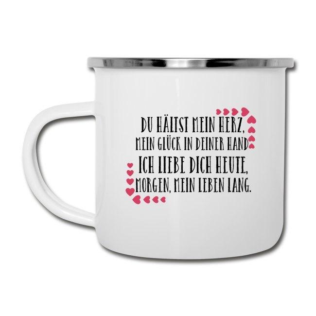 Valentinstagsgeschenk mit Spruch, Tasse