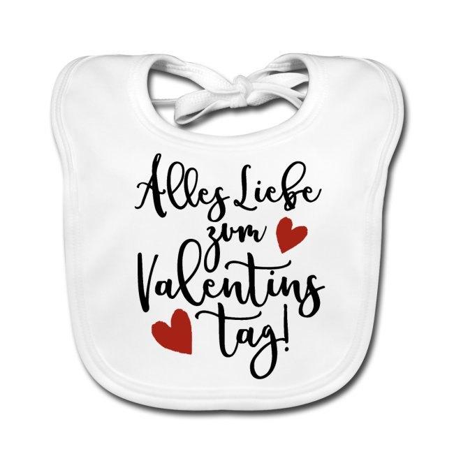 Valentinstagsgeschenk mit Spruch, Lätzchen