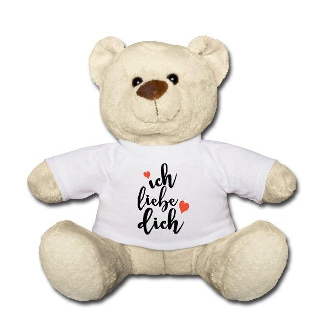 Valentinstagsgeschenk mit Spruch, Teddybär