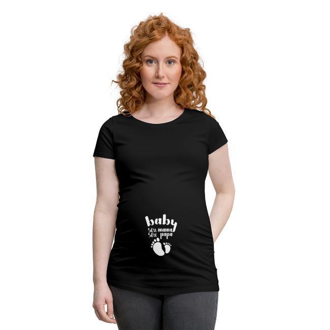Schwangerschaftsmode mit Babysprüchen