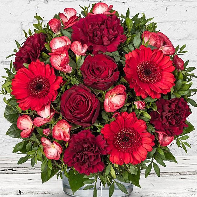 Blumenstrauß Glücksgefühl