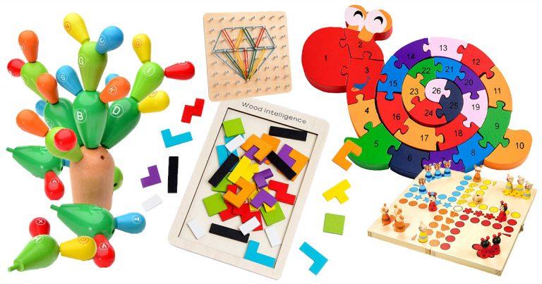 Holzspiele für Kleinkinder