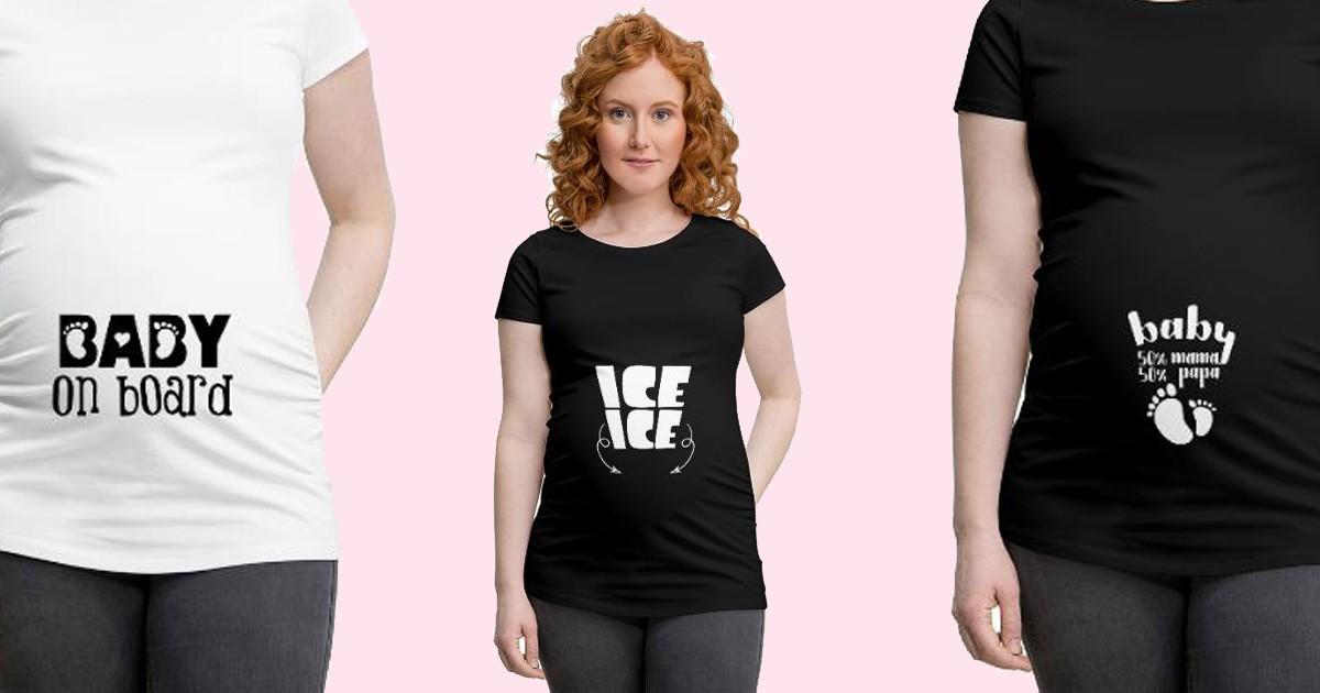 Schwangerschaft Sprüche auf T-Shirts