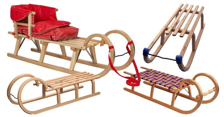 Holzschlitten für Kinder