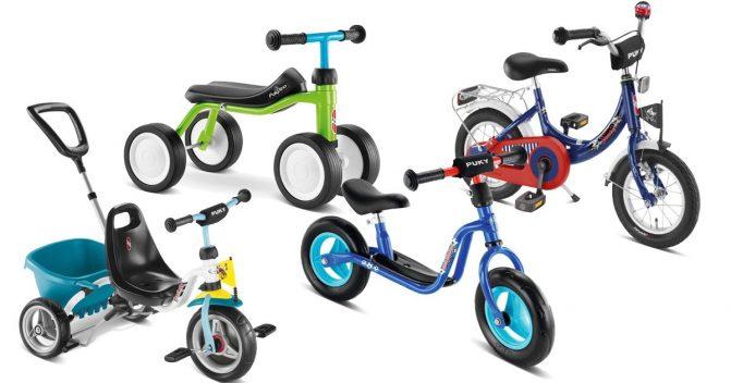 Puky Laufrad, Dreirad und Kinderfahrrad