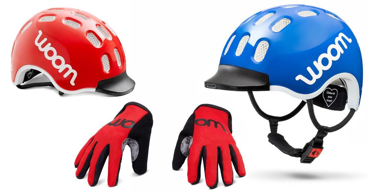 woom bikes helm & handschuhe