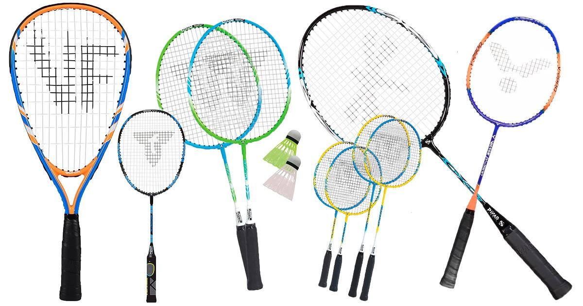 PMS Kinder Badminton-Set Kunststoff leicht 2 x farbige Schl/äger und 1 x Federball Gartenspiel