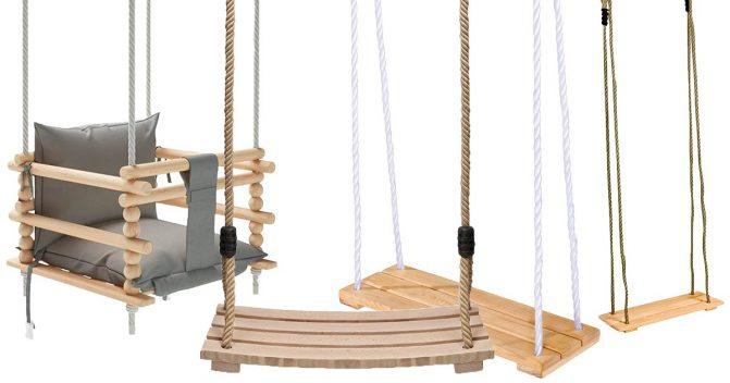 Holzschaukeln