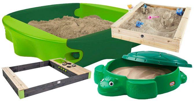 Sandkästen für Kinder