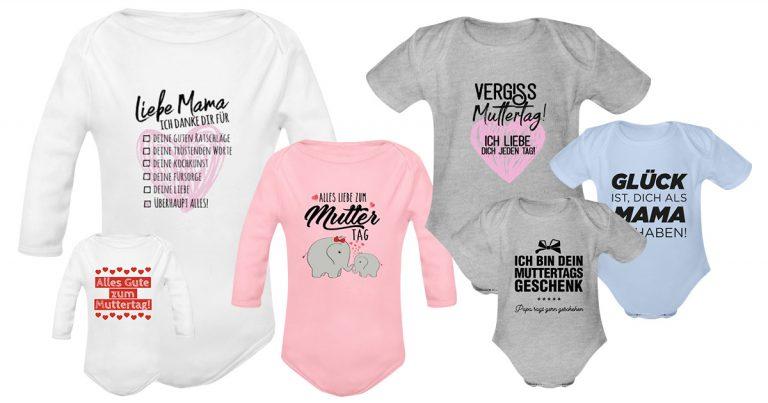 Geschenk zum ERSTEN Muttertag: ein süßer Baby-Strampler!