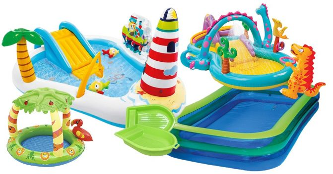 Planschbecken & Kinderpools mit Rutsche