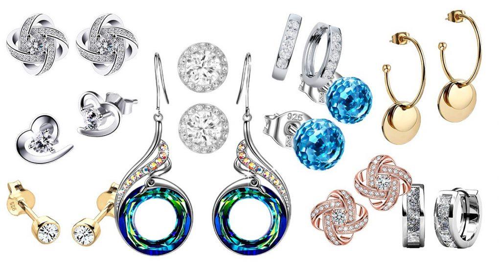 Ohrringe Geschenk Rund Ohrringe aus Ohrringen Schmuck für Mode KristallOhrringe