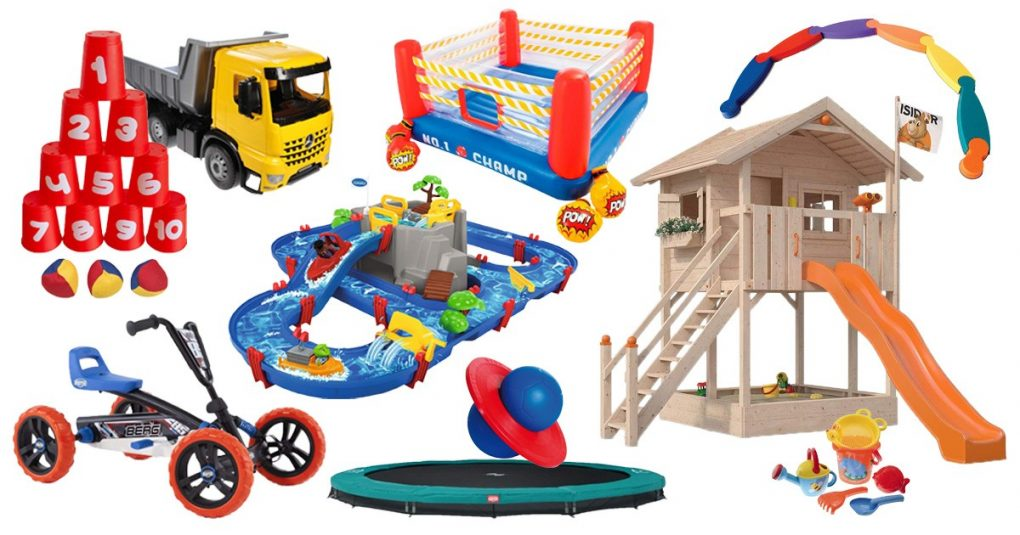 Kinderspielzeug. Farbige kinder, spielzeug und rahmen für