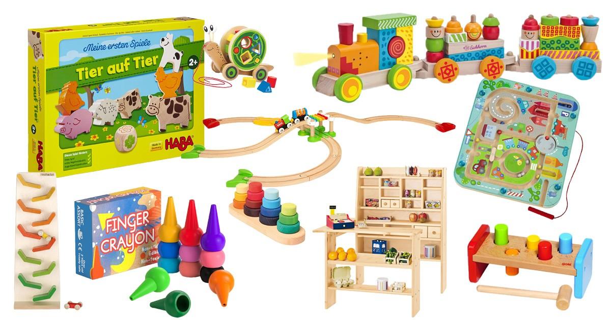 Fünf Spielsachen zur Förderung der Baby Entwicklung