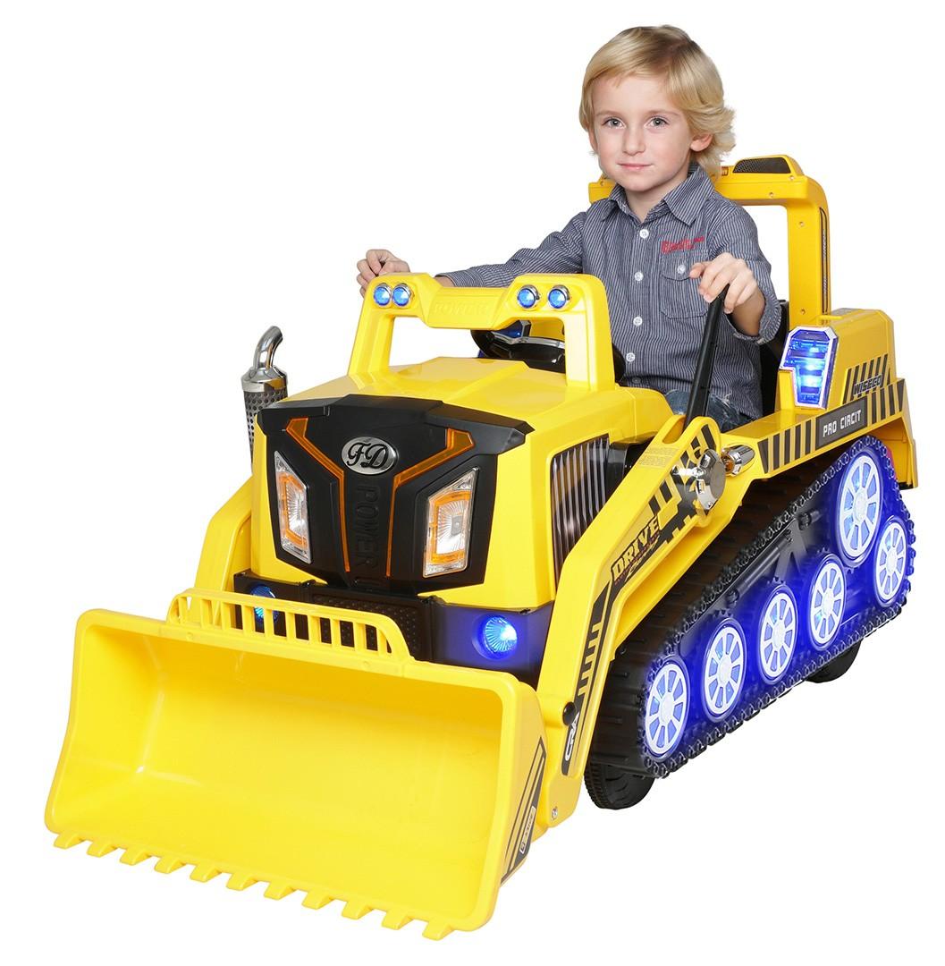 Kinder Elektro Radlader D2810 gelb