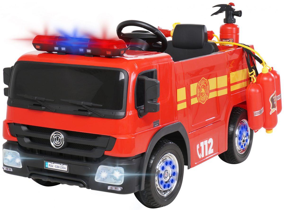 Kinder Elektroauto Feuerwehr SX1818 rot