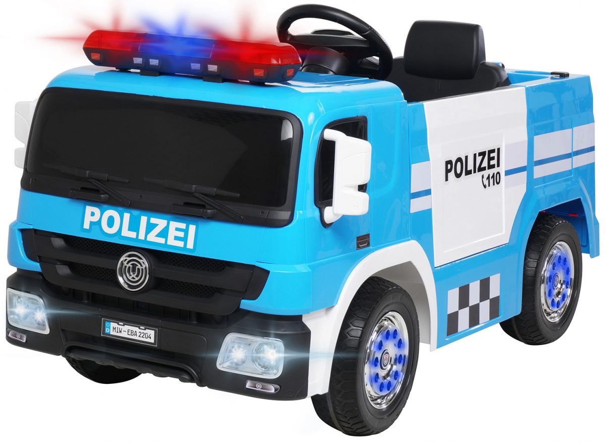 Kinder Elektroauto Polizei SX1818 blau