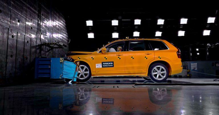 Volvo Crashtest - die sichersten Familienautos
