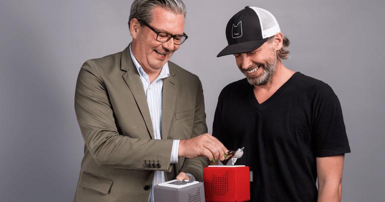 tonies-Gründer Patric Fassbender und Marcus Stahl im Podcast