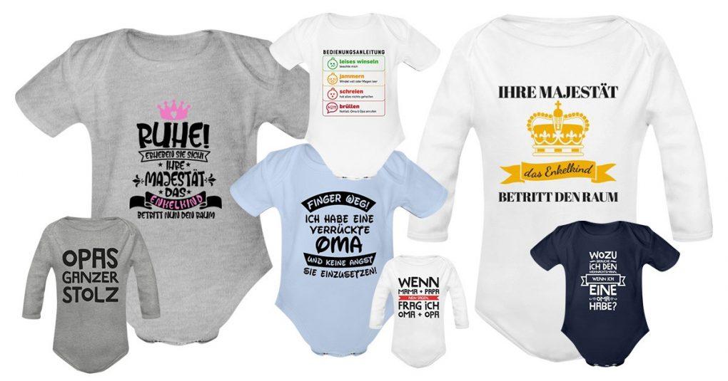 Baby Strampler für Oma & Opa