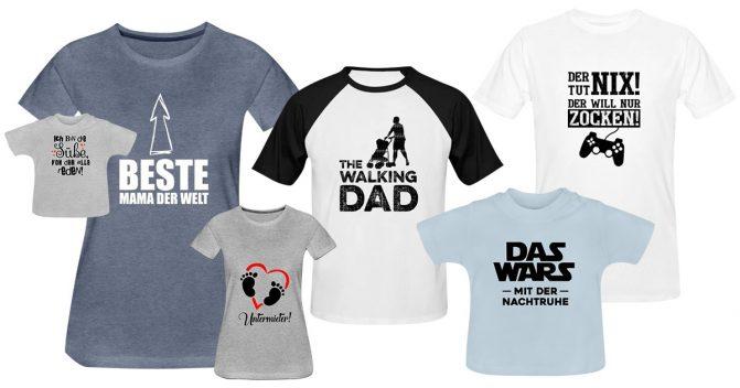 Lustige T-Shirt-Sprüche für Mama, Papa & Kinder [für jeden Anlass]