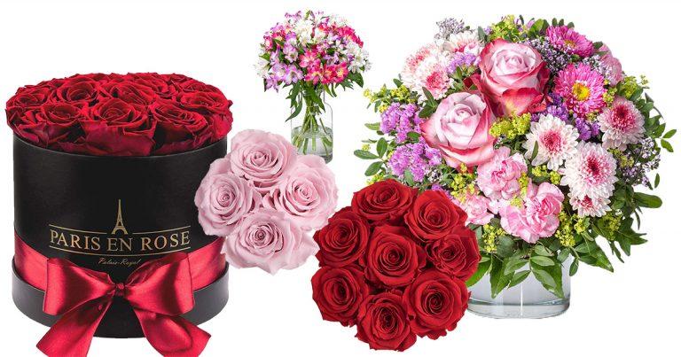 Blumensträuße zum Valentinstag