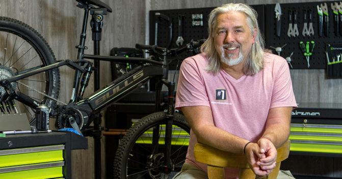 velomotion-Geschäftsführer Marcus Degen im Dad's Talk