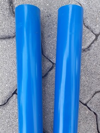 Farbunterschiede Quadro Langzeitvergleich blau