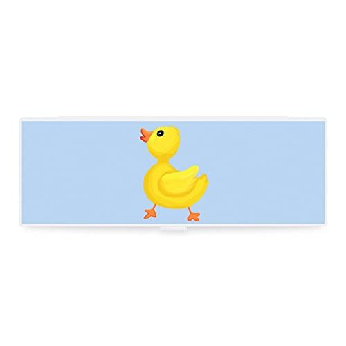 Niedliches kleines und großes transparentes Federmäppchen, Zubehörtasche, Kunst-Design, gelbe Ente,...