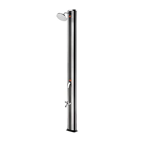 well2wellness® Aluminium Solardusche Gartendusche 'High Class' mit Fußdusche 40 Liter (P2606)