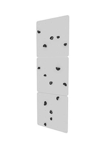 Wallbarz Kletterwand Indoor für Kinder mit schwarzen Griffe aus Sperrholz 1. Klasse, Kletterwand...