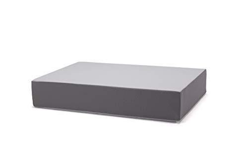 traturio Hüpfmatratze für alle kleinen und großen Hüpfer 130x90x25cm grau/grau genoppt
