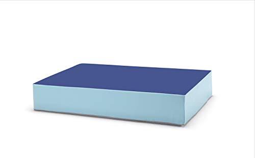 traturio Hüpfmatratze für alle kleinen und großen Hüpfer 130x90x25cm (blau/eisblau)
