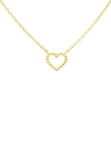 MyGold Collier Halskette Gelbgold 750 Gold (18 Karat) 45cm Herz Kette Herzkette Goldkette Damenkette...