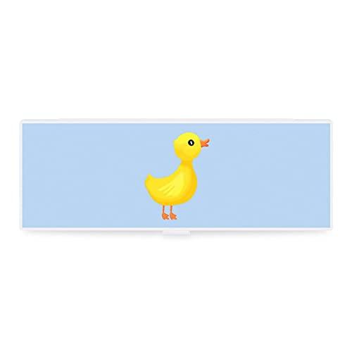 Lustiges kleines & großes transparentes Federmäppchen Zubehörtasche Art Design kleine Ente Spielzeug...