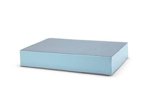 traturio Hüpfmatratze für alle kleinen und großen Hüpfer 130x90x25cm Jeansblau/eisblau