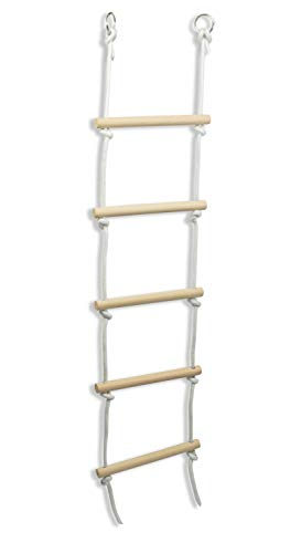Woudi® Kinder Strickleiter mit Holzsprossen ideal für Klettern Rahmen, Baumhaus, den & Play House.