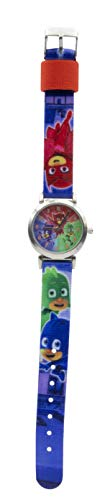 PJ Masks Unisex– Kinder Analog Quarz Uhr mit Stoff Armband 17027