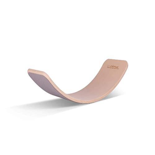 Wobbel Original Balanceboard Transparent mit Filz Baby Mouse Yogaboard