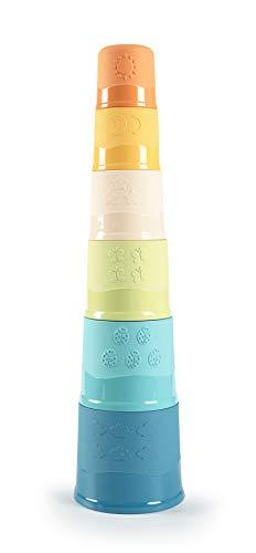 Smoby 181201 Green-Stapelbarer Becherturm, hergestellt aus nachhaltigem Bioplastik aus Zuckerrohr,...