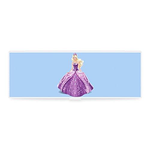 Lustiges kleines & großes transparentes Mäppchen Box Zubehör Tasche Kunst Design Mädchen Prinzessin...